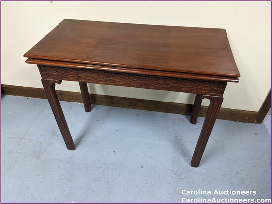 Beautiful Swivel Top Oriental Vintage Game Table