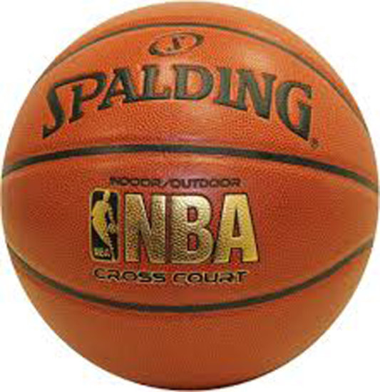 "Spalding NBA Cross Court Basketball (28.5""), $28.74 Est. Retail Value"