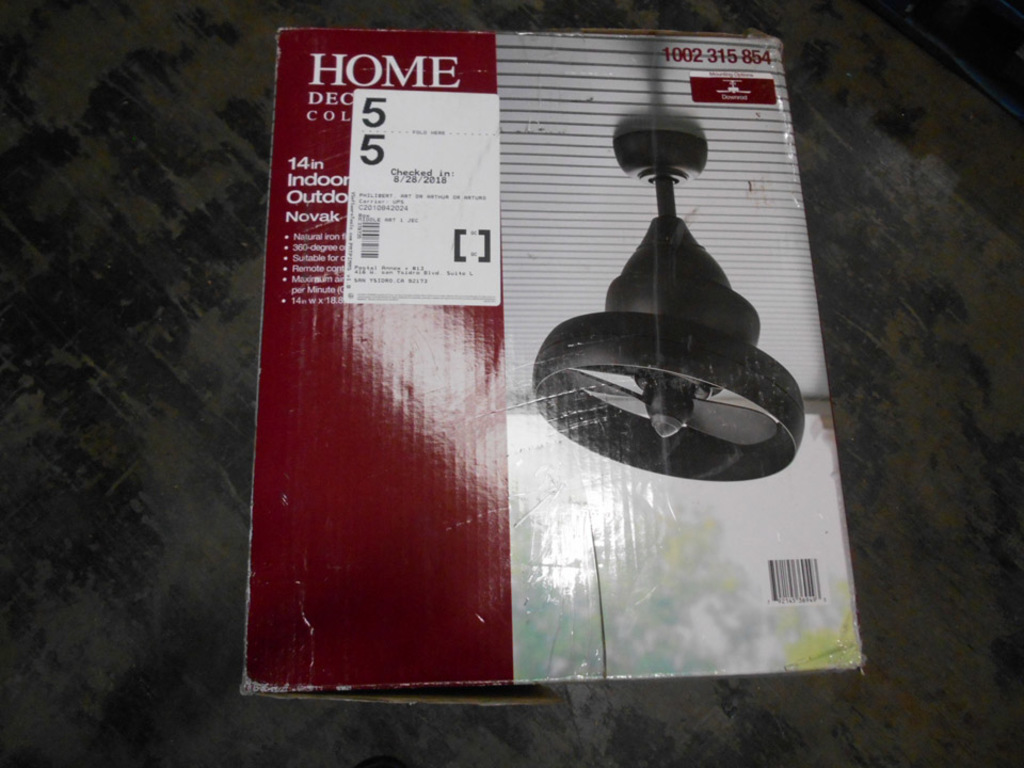 Lot: Home Decorators Collection Novak Natural Iron Oscillating
