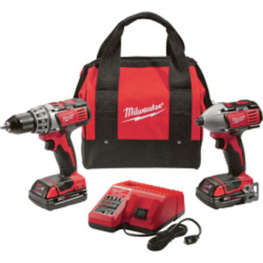 Milwaukee '2691-22' M18 Cordless Drill and Impact Kit. $205.85 ERV