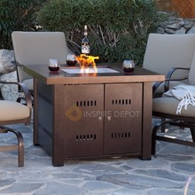 XtremepowerUS Outdoor Fire Pit Heater Glass