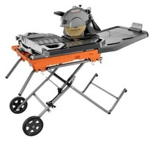 Ridgid 10 in. Wet Tile Saw with Stand.
