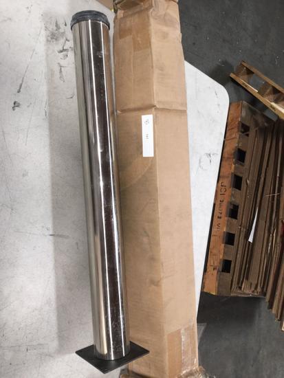 Brushed Steel Single Table Leg
