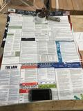 California state and federal labor laws poster. $23