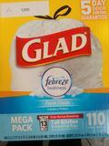 Glad Tall Kitchen Drawstring Trash Bags - OdorShield 13 . $16 MSRP
