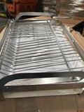 Metal dish rack with drainBoard