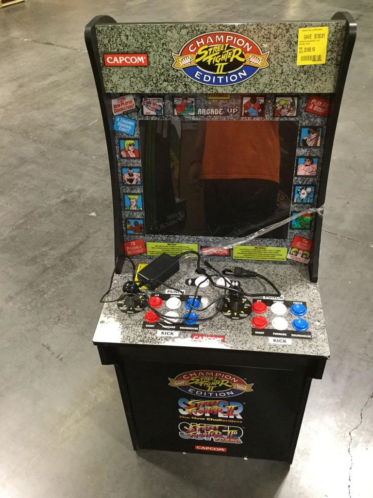 Capcom Arcade1up Street Fighter Ii Champion Edition Arcade Machine