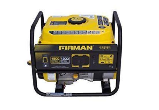 Firman P01201 1500/1200 Watt Recoil Start Gas Portable Generator - $199.99 MSRP