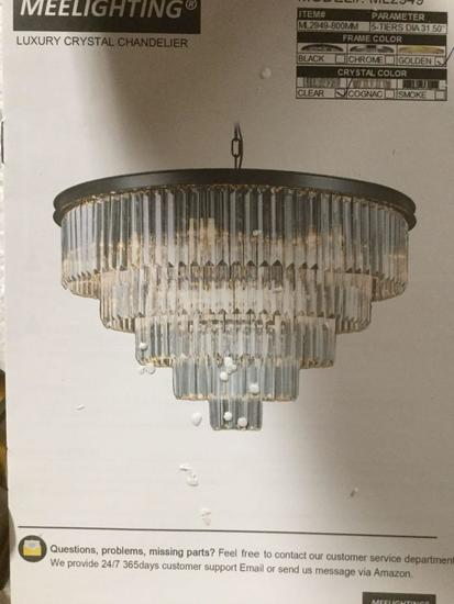 Meelighting gold plated modern crystal chandeliers