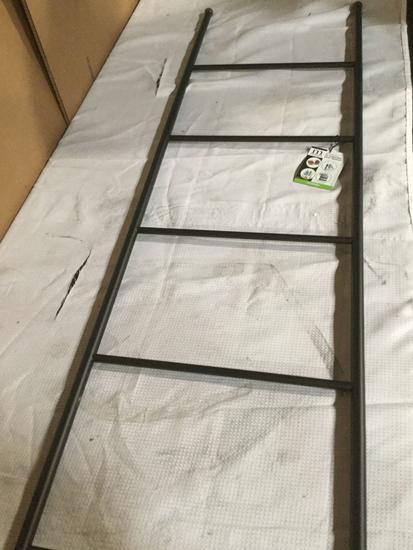 Decorative blanket ladder towel shelves