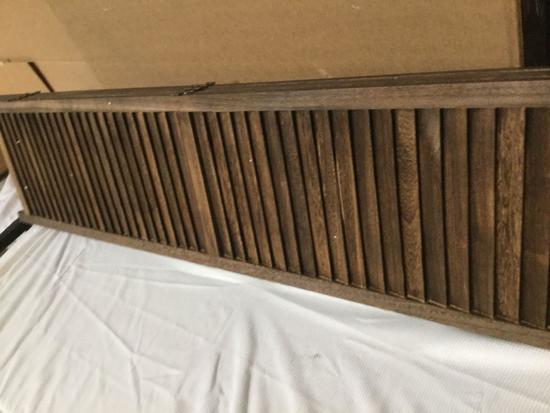 Wood room divider panel