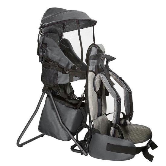Clevr Baby Backpack Camping Hiking Child Kid Toddler Carrier Shade Visor, Grey - $112.99 MSRP