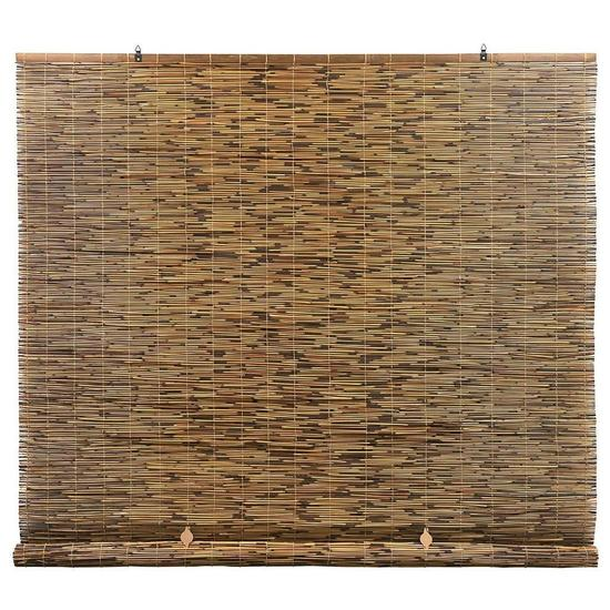 Radiance Cord Free, Roll-up Reed Shade, Natural, 72 x 72, Cocoa $41.71 MSRP