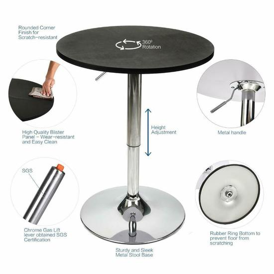 Elecwish Bar Table (US-OW003-BK) $75.00 MSRP