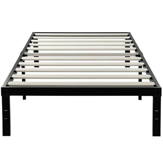 ZIYOO 14 Inch Wooden Slats Platform Bed Frame, Twin XL - $135.99 MSRP