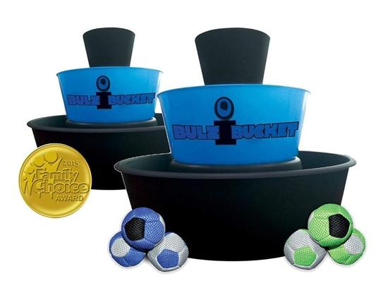 BULZiBUCKET Blue - Next Generation Cornhole - Indoor/Outdoor/Pool Game - $59.99 MSRP