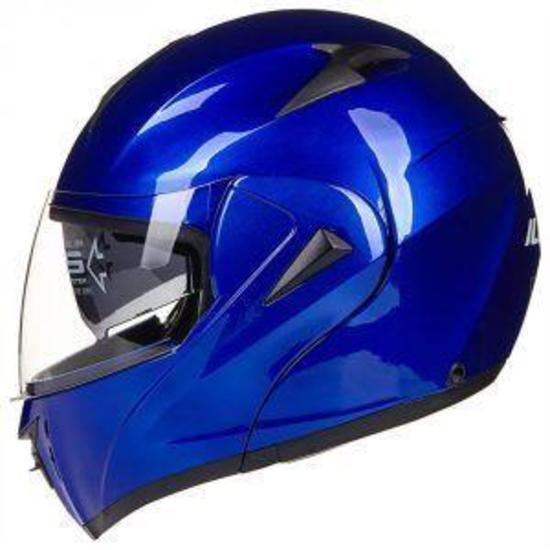 ILM 10 Colors Motorcycle Helmet DOT (M,Blue)