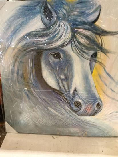Horse Oil Painting Wall Art for Decoration (2 items)