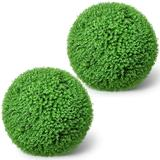 Ball Boxwood Topiary,Artificial Boxwood Ball Round Topiary Ball 16