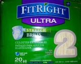 Medline FITSTRETCHU2 FitRight Stretch Ultra Disposable Briefs 20 Ct $6.00