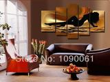 Art Hand Painted Canvas Oil Painting Artwork of Naked Women 5 Piece Modern Wall Art