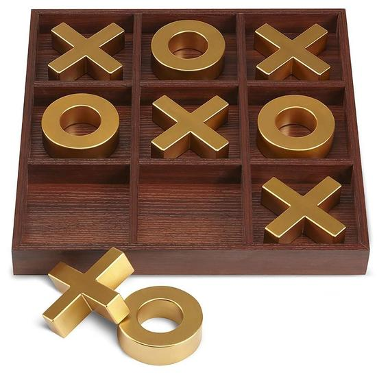 Refinery and Co. 10 Piece Premium Solid Wood Tic-Tac-Toe Board Game $29.99 MSRP