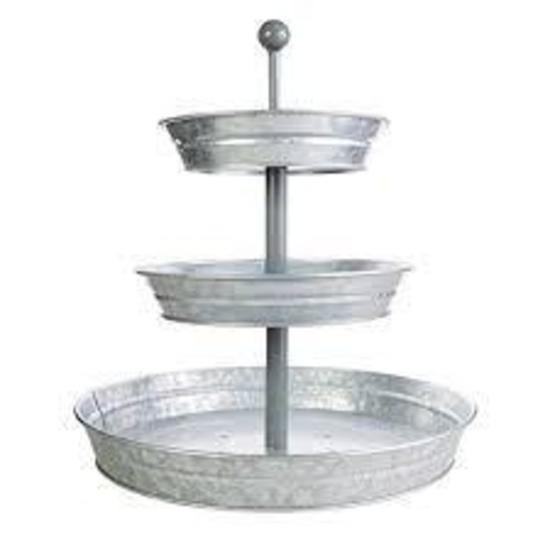 Car Side Mirror|BisonHome 3-Tiered Serving Tray,Decorative Galvanized Metal,Cupcake Stand $46.95MSRP