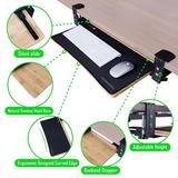Easy Clamp On Large Keyboard Tray Under Desk - Full Size