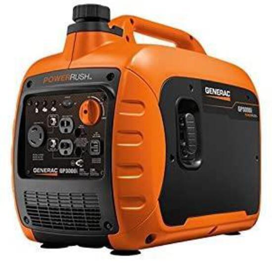 Generac GP3000i Super Quiet Inverter Generator - 3000 Starting Watts with PowerRush Technology