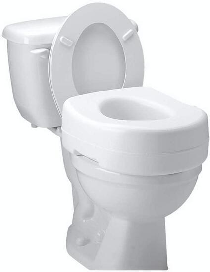 Carex Toilet Seat Riser - Adds 5 Inch of Height to Toilet-Raised Toilet Seat With 300lbs $17.52 MSRP