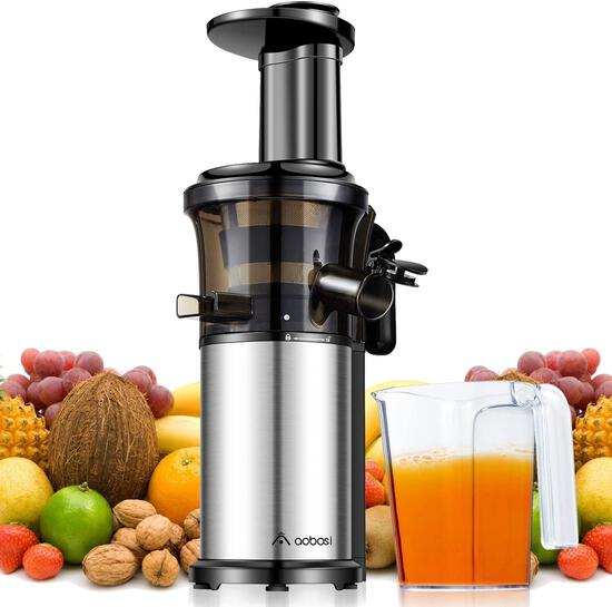Aobosi Slow Masticating Juicer Extractor Compact Cold Press Juicer Machine with Portable $99.97 MSRP