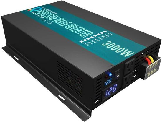 Reliable 3000W High Efficiency Pure Sine Wave Solar Power Inverter 12V 120V 60Hz Power $389.00 MSRP