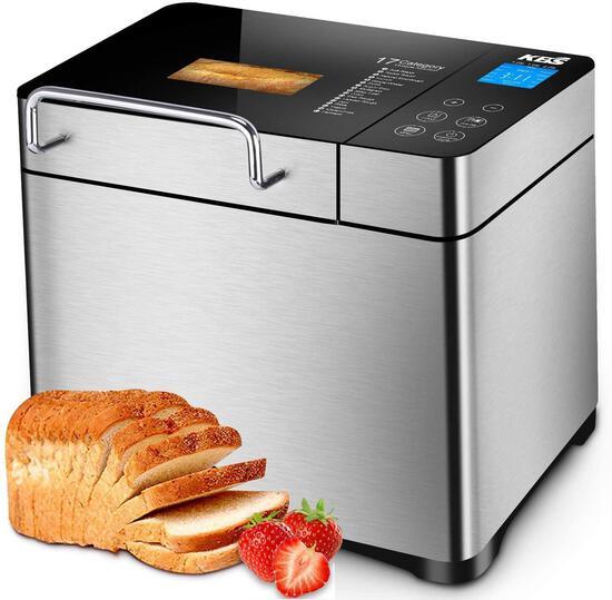 KBS Pro Stainless Steel Bread Machine, 2LB 17-in-1 Programmable XL Bread Maker $147.55 MSRP