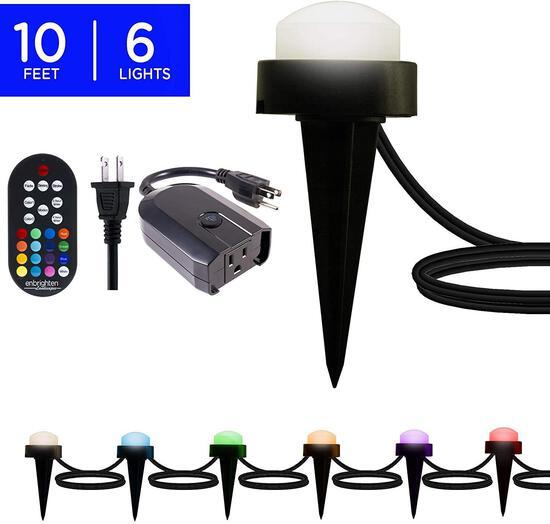 Enbrighten Seasons LED Landscape Mini Puck Lights(10 Ft./6 LED,Remote w/WiFi Smart Plug) $99.99 MSRP