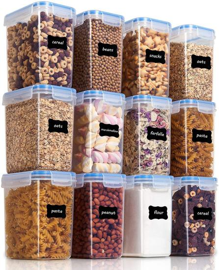 Vtopmart Airtight Food Storage Containers 12 Pieces 1.5qt / 1.6L- Plastic BPA Free