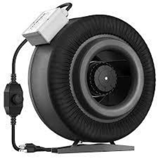 VIVOSUN 8 Inch 740 CFM Inline Duct Ventilation Fan with Variable Speed Controller - $74.99 MSRP