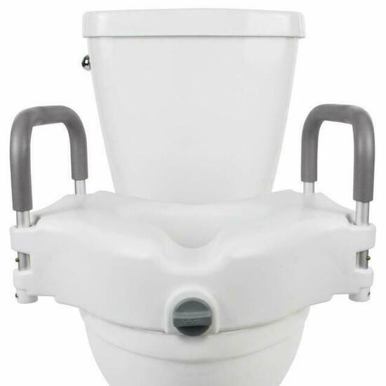 Vive LVA1011 Raised Toilet Seat with Padded Handles $59.95 MSRP
