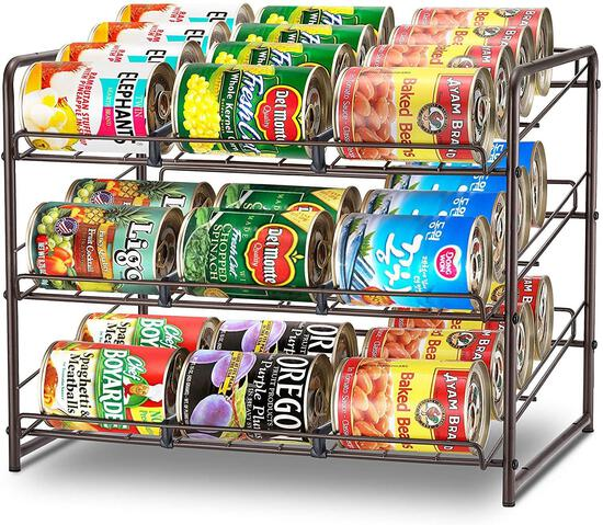 Simple Trending 3 Tier Can Rack Organizer