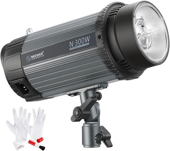 Neewer 300W 5600K Photo Studio Strobe Flash Light and LED Ring Light