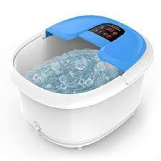 Foot Spa/Bath Massager with Bubbles and Lights, Arealer Foot Bath Massager - $89.99 MSRP