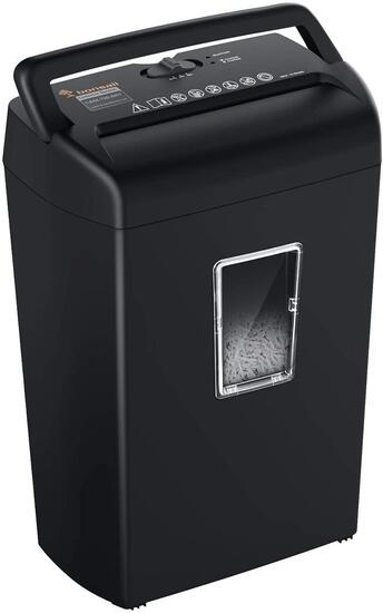 Bonsaii 10-Sheet Cross-Cut Paper and Credit Card Shredder Machine