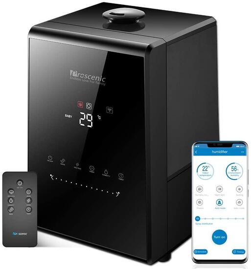 Proscenic 807C Humidifiers with App and Alexa Control, Warm and Cool Mist - $79.00 MSRP