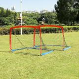 Youth Value Portable Soccer Goal w/Carry Bag for Kids and Teens, Foldable Soccer Net 6ft x 4ft, Set