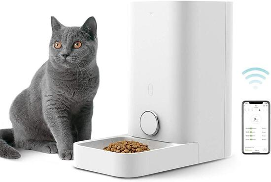 PETKIT Automatic Cat Feeder, Wi-Fi Enabled Smart Feed Pet Feeder - $99.99 MSRP