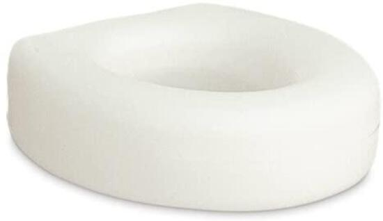 AquaSense Portable Raised Toilet Seat, White, 4 Inches $17.41 MSRP