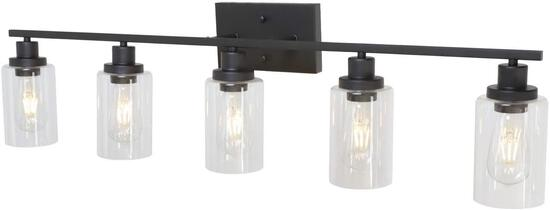 Melucee 5-Light Wall Light Fixtures Oil Rubbed Bronze Wall Sconces - $148.99 MSRP