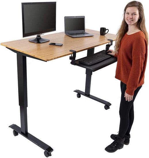 Stand Up Desk Store Large Clamp-On Retractable Adjustable Keyboard Tray - $94.97 MSRP