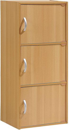 Hodedah IMPORT 3-Shelf Bookcase Cabinet, Beech $32.51 MSRP