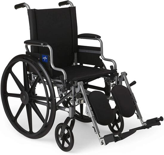 Medline Lightweight and User-Friendly Wheelchair with Flip-Back, Desk-Length Arms $171.17 MSRP