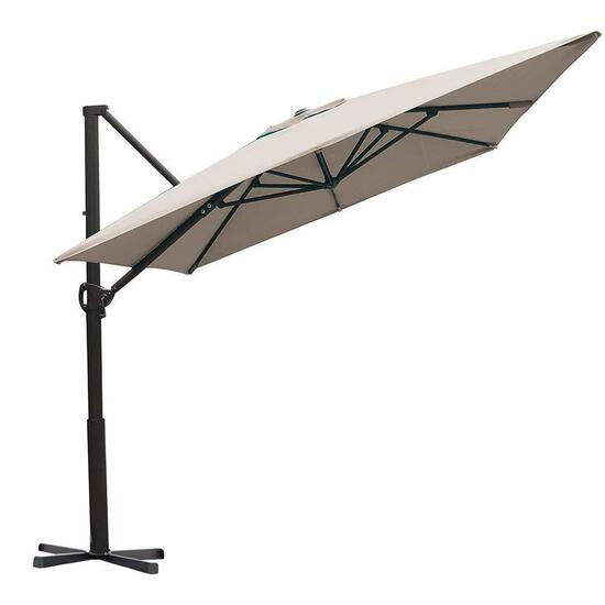 Abba Patio 8 x 10 Feet Rectangular Cantilever Umbrella with Cross Base, Sand $189.99 MSRP